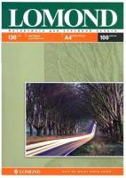 Lomond 0102004 Двусторонняя Матовая/Матовая фотобумага для струйной печати, A4, 130 г/м2, 100 листов.