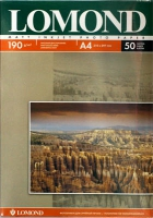 Lomond 0102015 Двусторонняя Матовая/Матовая фотобумага для струйной печати, A4, 190 г/м2, 50 листов.