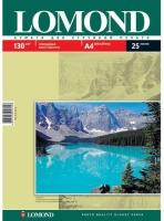 Lomond 0102041 Односторонняя глянцевая фотобумага для струйной печати, A4, 130 г/м2, 25 листов. ,