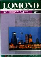Lomond 0102059 Односторонняя Шелковисто-матовая фотобумага для струйной печати, A4, 130 г/м2, 50 листов..