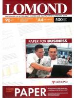 Lomond 0102131 Односторонняя Матовая фотобумага для струйной печати, A4, 90 г/м2, 500 листов