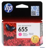 Картридж оригинальный пурпурный (magenta) HP №655  CZ111AE BHK, ресурс 600 стр.