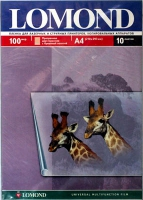 Lomond 0710421 пленка двусторонняя для лазерн., стр. принт. и копир. прозр.A4,10л.100 мкм с бумаж.полосой