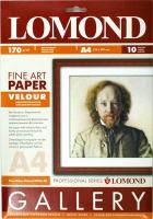 Lomond 0911041 Велюр- двустор.мат.слабовыраж.бархатистая, натур.-белая A4 , 170g/m ,10лист