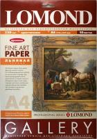 Lomond  0913241 Льняная грубая , односторонняя,натур.-белая,архивная  A4 ,230 g/m,10 лист.