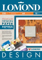 Lomond  0929041 Папирус (Papyrus)-односторонняя, Матовая,  A4, 230 г/м2, 10 листов.