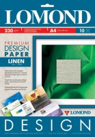 Lomond 0934041 Лён (Linen)-Дизайнерская бумага , односторонняя, Матовая, A4, 230 г/м2, 10 листов.