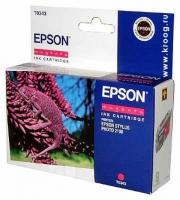 Картридж оригинальный (блистер) пурпурный (magenta) Epson T0343, ресурс 440 стр.