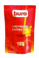 Салфетки BURO сменные для экранов и оптики, 100 шт.