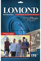 Lomond 1101101(Super Glossy Bright) -односторонняя Суперглянцевая ярко-белая микропористая A4 170g/m,  20 лист.