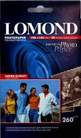 Lomond 1103102 (Super Glossy Bright) односторонняя Суперглянцевая , ярко-белая,  A6 260g/m, 20 лист