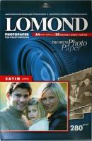 Lomond 1104201(Satin Warm)-Сатин (полуглянцевая) односторонняя,Атласная тепло-белая  A4, 280 г/м, 20 листов.