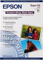 Бумага Epson C13S041316 (Premium Glossy Photo Paper) глянцевая, А3+, 255 г/м2, 20 л.