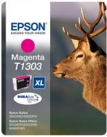 Картридж оригинальный (в технологической упаковке) пурпурный (magenta) Epson T1303 XL / C13T13034010, объем 10,1 мл.