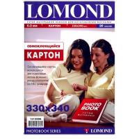 Lomond  1513002  Самоклеящийся Картон двустор. для изгот.фотокниг 330х440  170 г/м2 20 л.