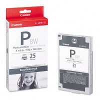 Набор для черно-белой фотопечати оригинальный Canon E-P25BW (Easy Photo Pack E-P25BW) (А6 25 л. + картридж)