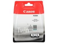 Двойная упаковка черных картриджей Canon PGI-5Bk.  Ресурс ~360 стр. х 2 шт.