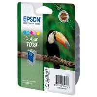 Картридж оригинальный (в технологической упаковке) цветной Epson T009 color, ресурс 330 стр.