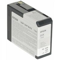 Картридж оригинальный серый (light light black) Epson T5809 / C13T580900, емкость 80 мл.