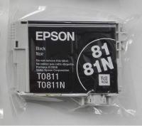 Картридж оригинальный (блистер) (повышенной емкости) черный (black) Epson T0811 / C13T08114A, объем 11,1 мл