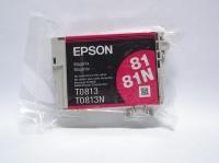 Картридж оригинальный (блистер) (повышенной емкости) пурпурный (magenta) Epson T0813 / C13T08134A, объем 11,1 мл.