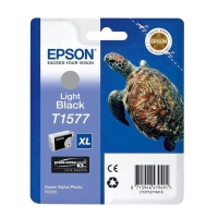 Картридж оригинальный (блистер) серый/светло-черный (light black) Epson T1577 XL / C13T15774010, объем 25,9 мл.