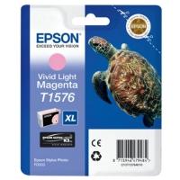 Картридж оригинальный (блистер) светло-пурпурный (light magenta) Epson T1576 XL / C13T15764010, объем 25,9 мл.
