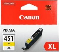 Картридж оригинальный (увеличенного объема) желтый (yellow) Canon CLI-451XL Y, ресурс 680 стр.