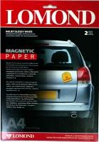 Lomond 2020345(Magnetic Paper Glossy) -односторонняя белая Глянцевая бумага с Магнитным слоем.  А4.  2 листа.