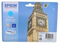 Картридж оригинальный голубой (cyan) Epson T7032 / C13T70324010, ресурс 800 стр.