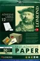 Lomond 2100065 универсальная матовая самоклеящаяся деленая  бумага 12частей (105х48мм)  A4  70 g/m, 50 лист