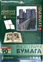 Lomond 2210023 Самоклеящаяся  матовая бумага 4 части (105 x 148.5 мм) A4  90g/m, 25 лист.