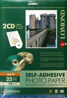 Lomond 2211013 Самоклеящаяся матовая - Наклейки на CD 2-дел.( D-117/18мм.),  A4 ,90g/m, 25 л.