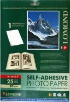 Lomond 2410003 Самоклеящаяся Глянцевая бумага неделеная, A4  85g/m, 25 лист.