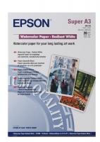 Бумага Epson S041352 (Watercolor Paper - Radiant White) матовая, A3+, 188 г/м2, 20 л.