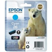 Картридж оригинальный голубой Epson T2612 Cyan (C13T26124010), ресурс 300 стр.