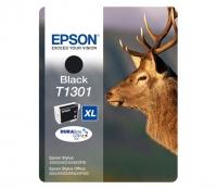 Картридж оригинальный (блистер) черный (black) Epson T1301 XL / C13T13014010, объем 25,4 мл.