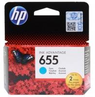 Картридж оригинальный голубой (cyan) HP №655 CZ110AE BHK, ресурс 550 стр.