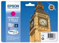 Картридж оригинальный пурпурный (magenta) Epson T7033 / C13T70334010, ресурс 800 стр.