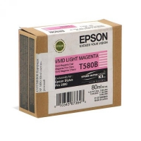 Картридж светло-малиновый T580B (L.Magenta) оригинальный. Емкость 80 мл. Для Epson Pro 3880. Артикул: C13T580B00