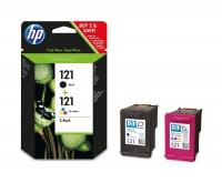 Комбинированная упаковка оригинальных картриджей HP DJ CC640 +CC643 N121 черный и цветной