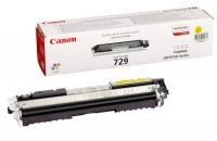 Картридж оригинальный желтый (yellow) Canon Cartridge 729 Y, ресурс 1000 стр.