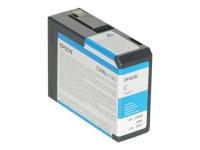 Картридж оригинальный голубой (cyan) Epson T5802 / C13T580200, емкость 80 мл.