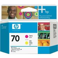 Картридж оригинальный (головки печатающие) пурпурный + желтый HP C9406A (№70) Magenta & Yellow Printhead