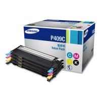 Набор картриджей оригинальный (4 цвета CMYK) Samsung CLT-P409C, ресурс: голубой/пурпурный/желтый - 1000 стр. (каждый); черный - 1500 стр.