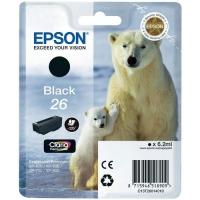 Картридж оригинальный черный Epson T2601 Black (C13T26014010), ресурс 220 стр.
