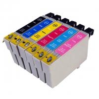 Набор картриджей оригинальный (в технологической упаковке) Epson T0487 (Bl, C, M, Y, PC, PM)
