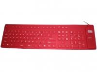 Клавиатура AgeStar AS-HSK810FA (Red) combo USB+PS/2