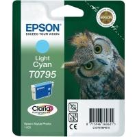 Картридж оригинальный (в технологической упаковке) светло-голубой (light cyan) Epson T0795 / C13T07954010
