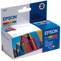 Картридж оригинальный (блистер) цветной Еpson T037 color, ресурс 180 стр.